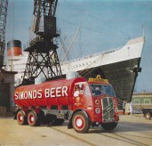1959 ERF tanker delivering to the Queen Elizabeth. proudly driven by Albert Walter Mason (1899-1973)