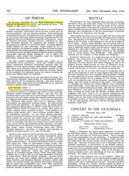 Simonds GT Ad Portas 1954 The Wykehamist