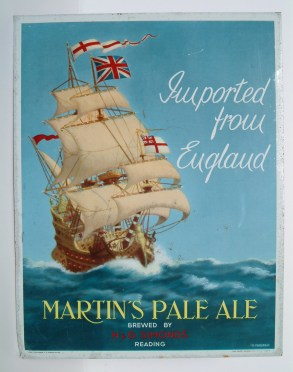 Tin sign from Martin's brewery, Brussels