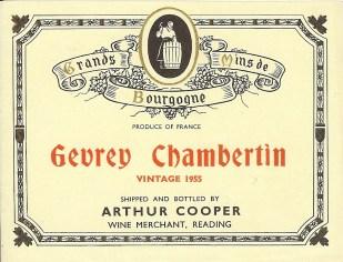 Gevrey Chambertin 1955
