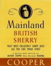 Mainland British Sherry