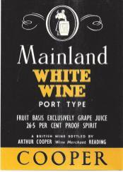 Mainland White Wine [Port Type!]