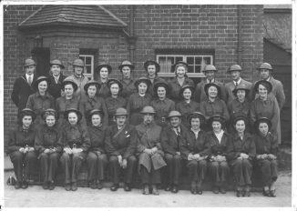 Brewery air raid drill 1941. George Blackall Simonds - centre