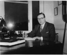 Denys Richardson, Company Secretary c1960