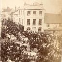 Market Place, The Ship Inn and A W Tyrrell, grocer, 1879