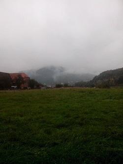 Keine Nebel-, sondern Rauchschwaden - Brenntage auf dem Land