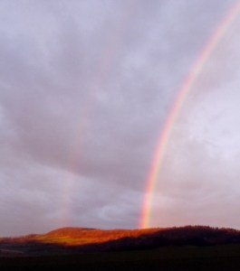 Gute Vorsätze sind wie der Regenbogen: schnell verschwunden.