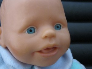 Babypuppe Gesicht