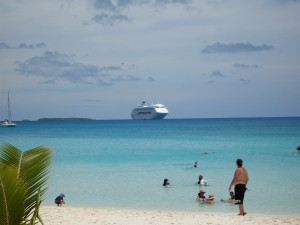 View of the ship from the island of Ouvea