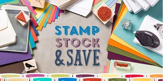 Stamp, Stock & Save: Fabulous Stampin' Up! discounts until October 6, to celebrate World Cardmaking Day.