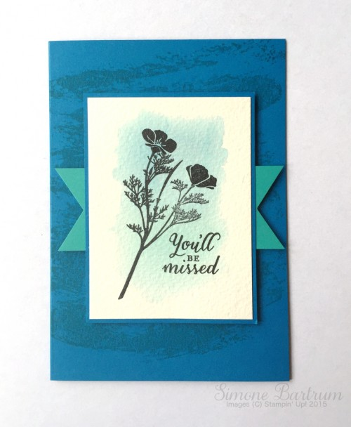 Wild About Flowers stamp set by Stampin 'Up!: You'll Be Missed card