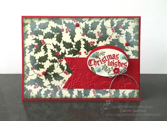 CTC54 Colour Challenge: Home of the Holidays DSP patterned paper from Stampin' Up!, and Cozy Christmas stamp set