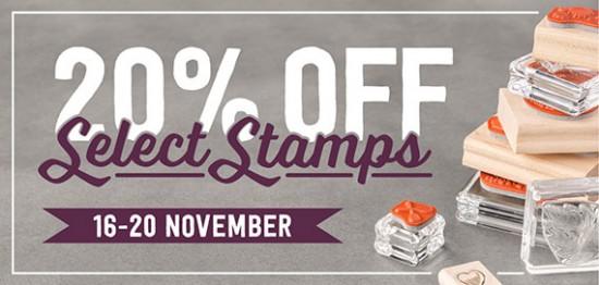 Stamps on sale! 20% off select Stampin' Up! sets until Nov 20.