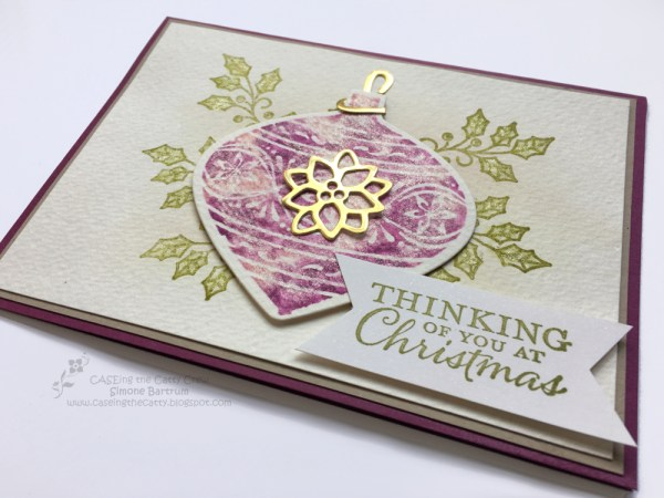 Embellished Ornaments meets Wink of Stella - Stampin' Up! CTC 60