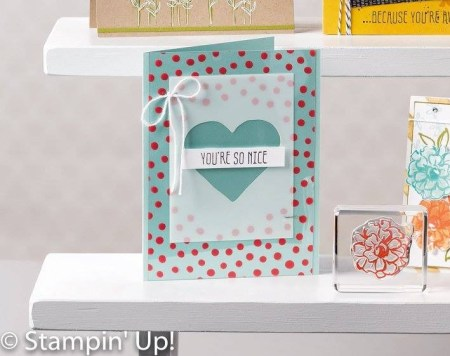 You're So Nice - card from the cover of the Stampin' Up! Sale-A-Bration brochure 2016