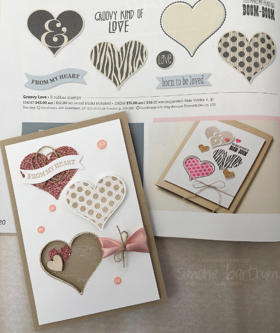 CASEing the Stampin' Up! catalogue - this time we took our inspiration from page 20 of the annual catalogue