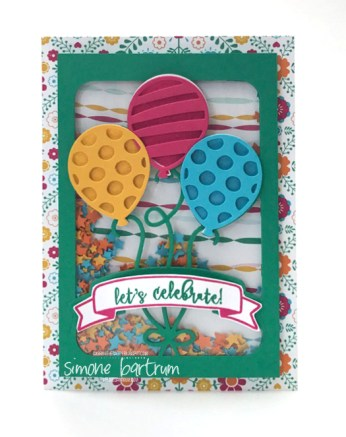 Balloon Adventures Shaker Card - CTC125 by Simone Bartrum