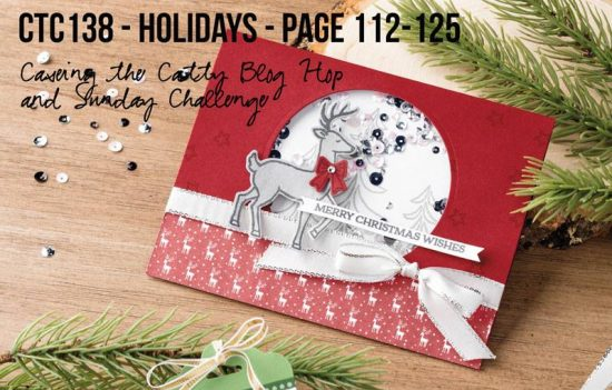 Santa's Sleigh by Stampin' Up!. CASE-ing the Catty project for 23rd July 2017