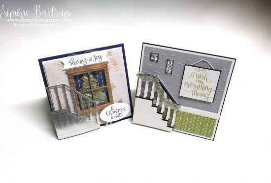 Stampin' Up! staircase: Ready for Christmas Staircase bundle - Available in the 2017 Stampin' Up! Holiday Catalogue from 1st September. Or if you're a demonstrator you can get from 1st of August 2017!