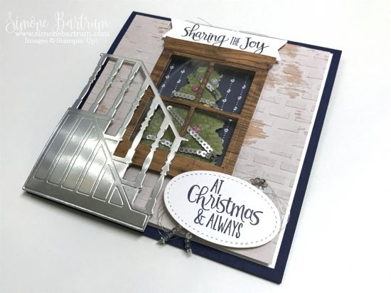 Stampin' Up! staircase: Christmas Staircase Thinlits dies and coordinating Ready for Christmas stamp set