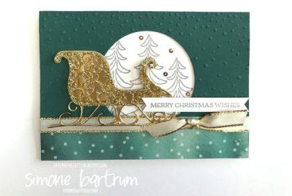 Santa's Sleigh by Stampin' Up!, in Tranquil Tide