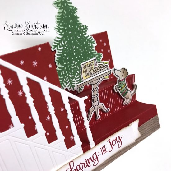 Stampin Up Ready For Christmas Stair Step Staircase Cards