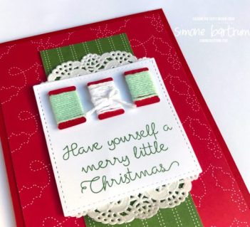 Stampin' Up!'s Quilted Christmas. Project created by Simone Bartrum.