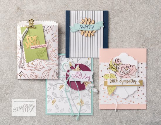 Springtime Foils paper - Sale-a-bration exclusive, by Stampin' Up!