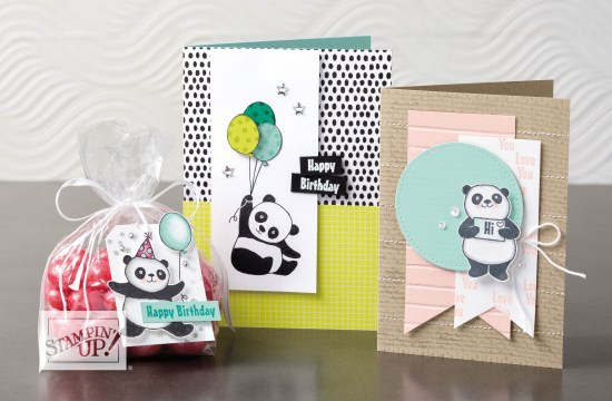 Party Pandas - Sale-a-bration exclusive stamp set by Stampin' Up!