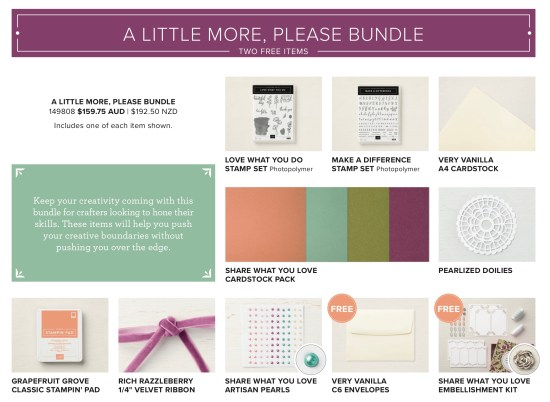 A Little More Bundle from Stampin' Up!