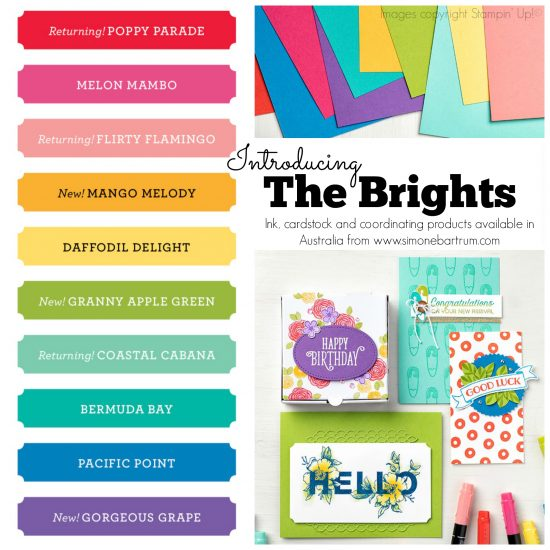 Stampin' Up! Colour Revamp - The Brights