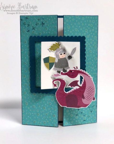 Interlocking Gate Fold Card by Simone Bartrum