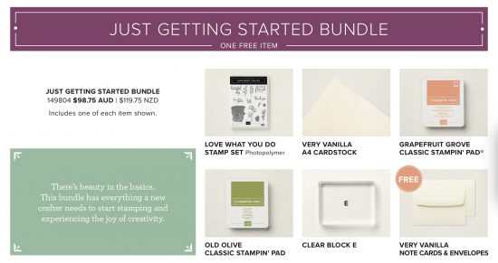 Just Getting Started bundle from Stampin' Up!
