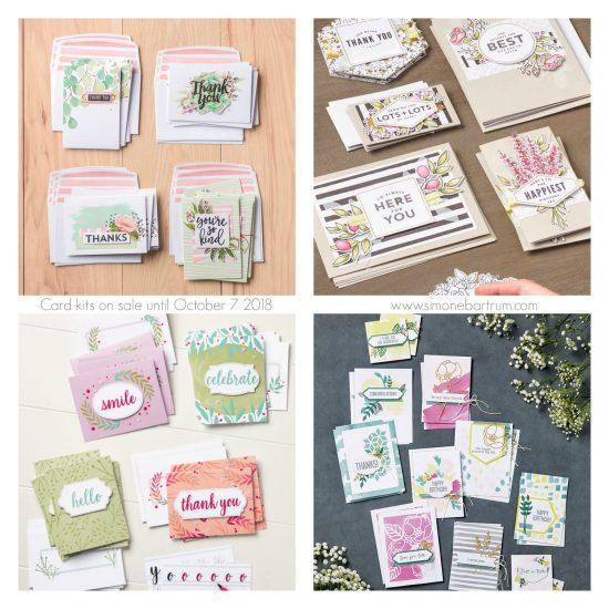 Card kits on sale until October 7
