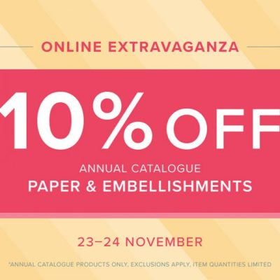 Stampin' Up!'s Online Extravaganza: 10% off