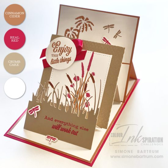 Triple easel card featuring Stampin' Up!'s Friend Like You stamp set and Friendly Silhouette dies. Project created by Simone Bartrum, Australia.