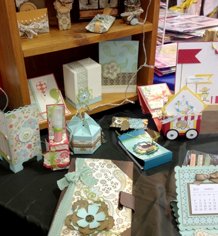 3D Display at the Stampin' Up! stand