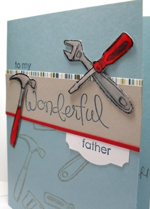 Totally Tools Fathers Day card by Simone Bartrum