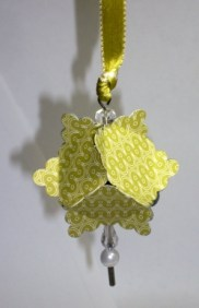Christmas Ornament made from the Square Scallop Punch
