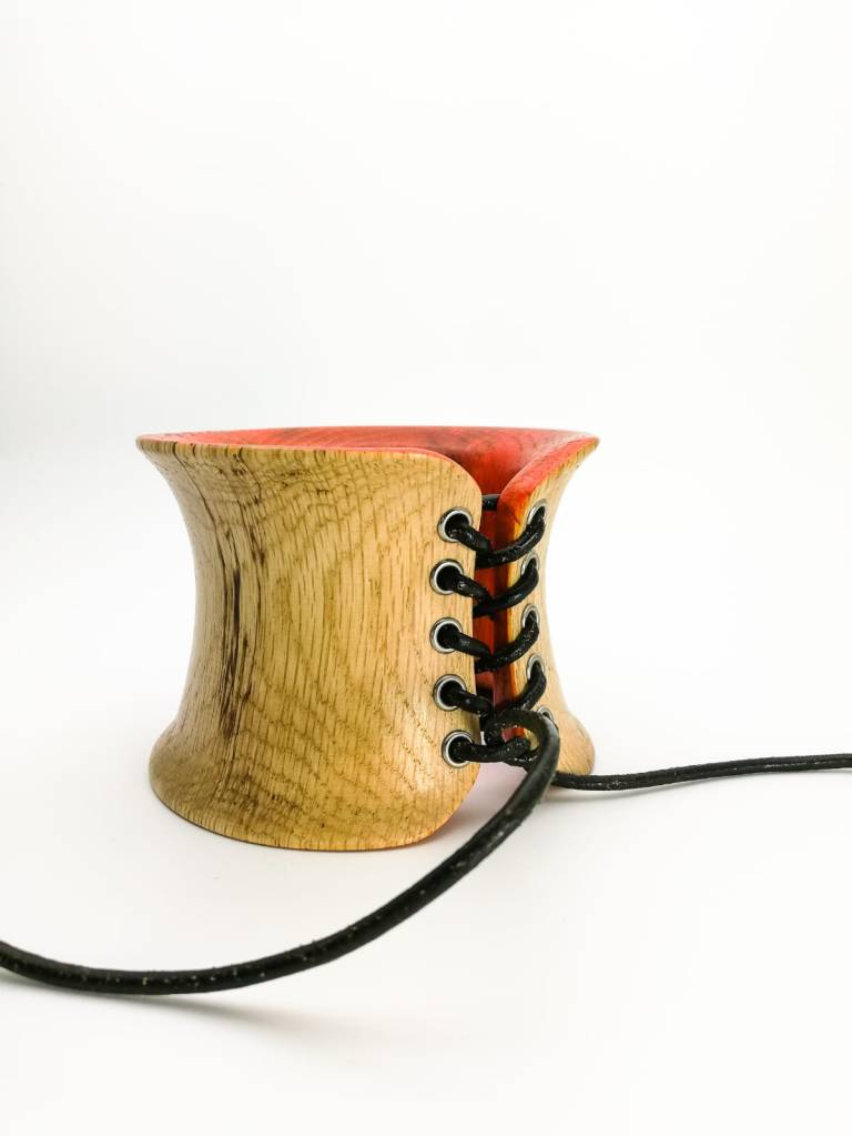"""Faun"", corset wooden bangle"