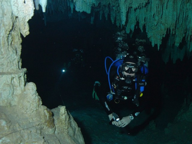 Photo by Ed Jackson in Akumal cave...I forget which cave
