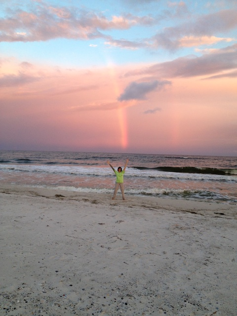 Thanks Sherry Sander Parks for taking this photo of me playing under the rainbow!