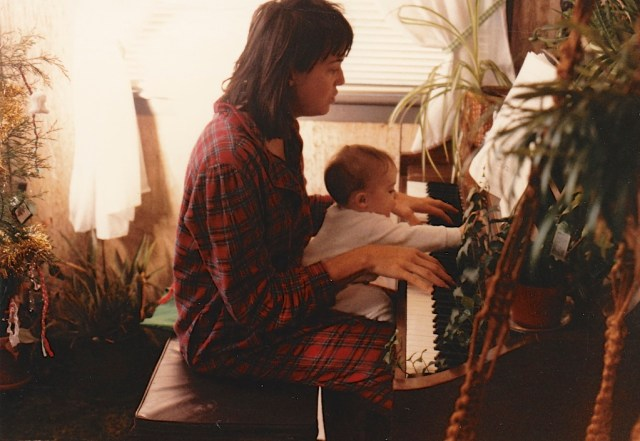 When I was pregnant I played the piano for Emily. She continued to enjoy it as a baby.
