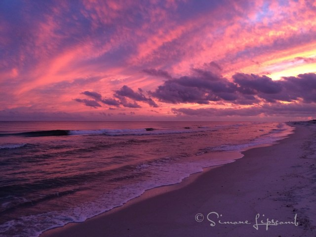Sunset Gulf Shores, Alabama 2014 with iPhone