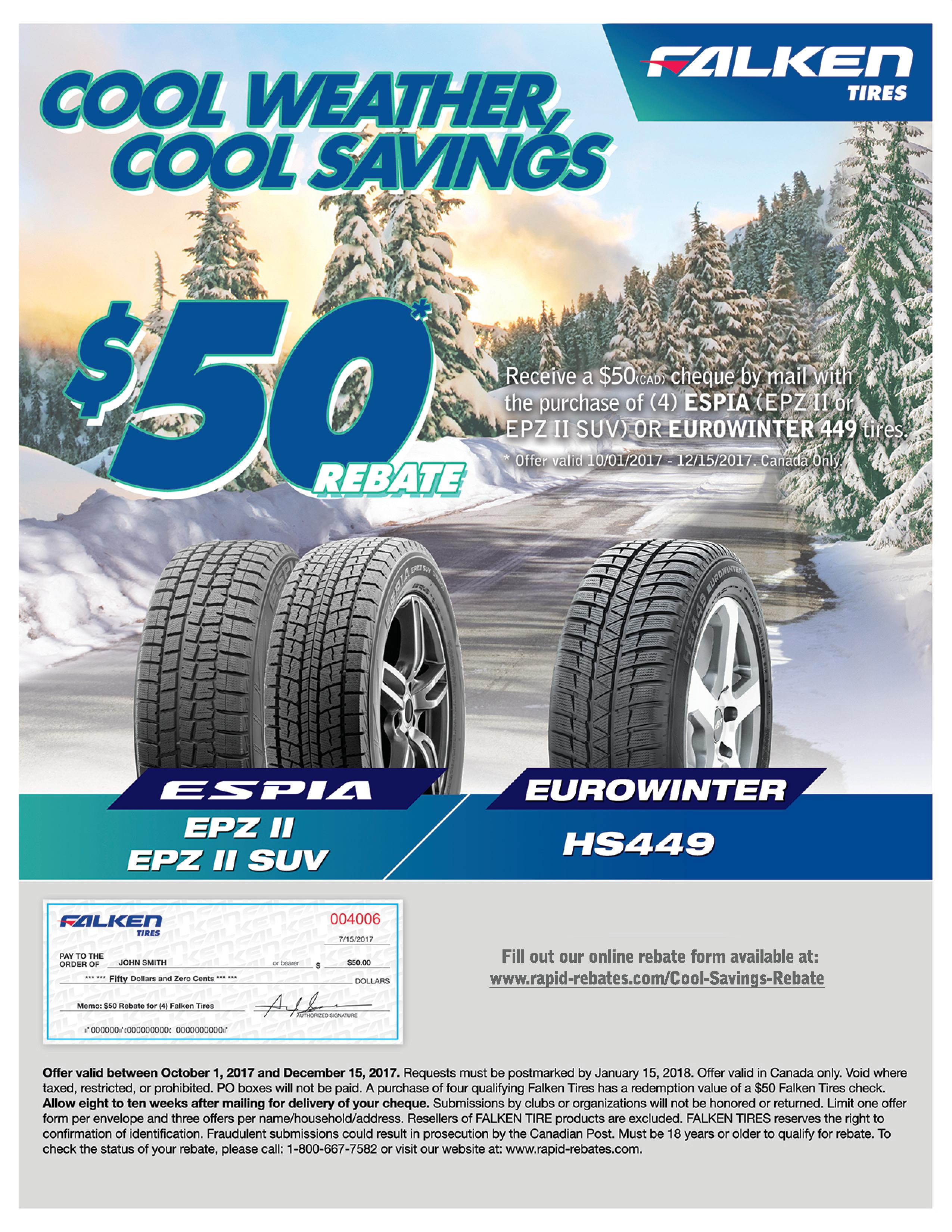 Winter Tire Rebates Simone Performance