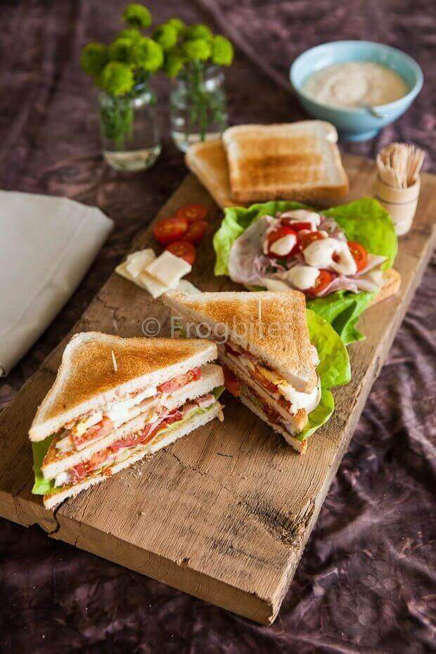 Home made club sandwich | simoneskitchen.nl