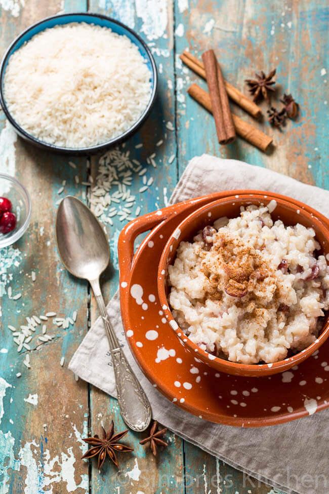 arroz con leche met kaneel, cranberries en steranijs | simoneskitchen.nl