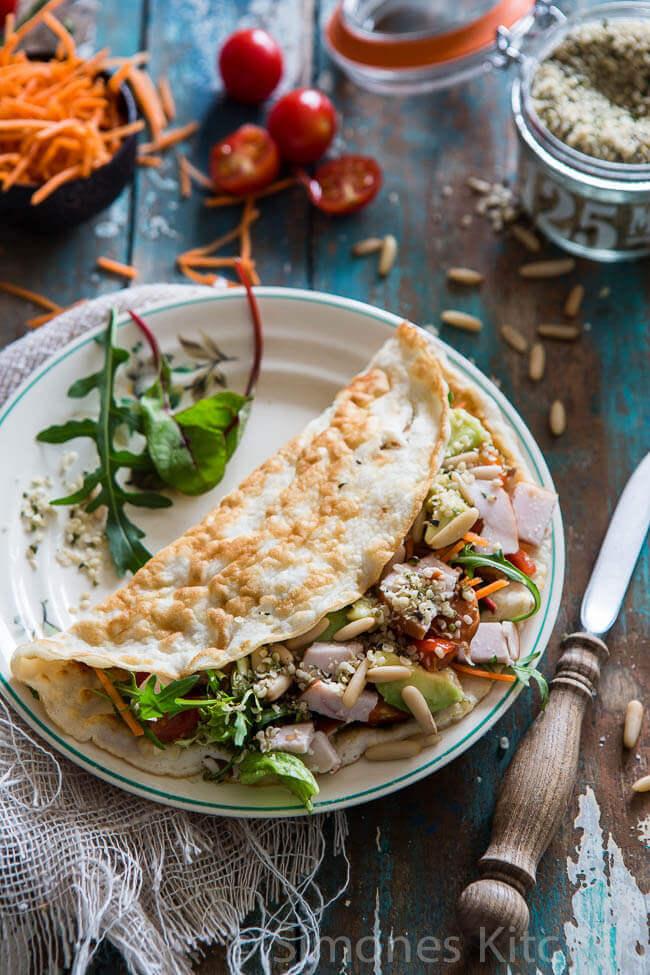 Kokosbloem tortilla wrap | simoneskitchen.nl width=