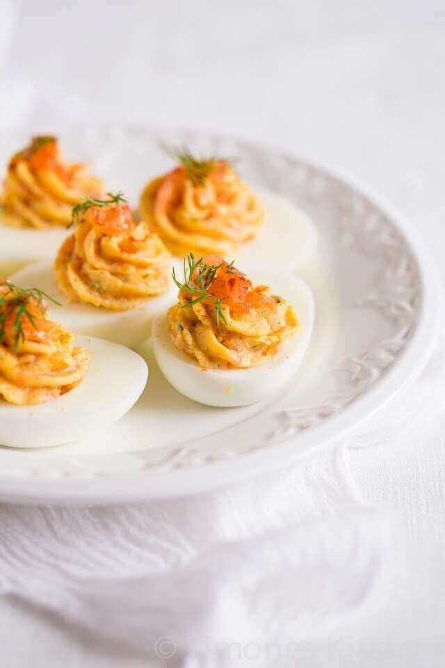 Gevulde eieren met zalm   simoneskitchen.nl