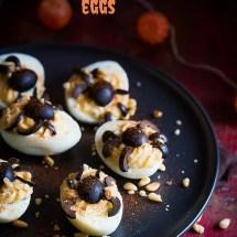 Gevulde eieren voor halloween | simoneskitchen.nl